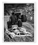 Monster Truck 2b Fleece Blanket