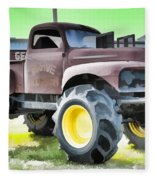 Monster Truck - Grave Digger 3 Fleece Blanket