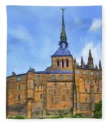 Mont Saint Michel - 2 - France Fleece Blanket