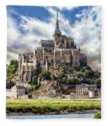 Mont Saint-michel Fleece Blanket