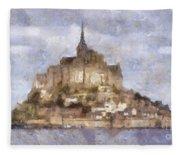 Mont Saint-michel, Normandy, France Fleece Blanket
