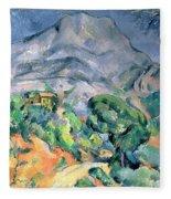 Mont Sainte Victoire Fleece Blanket
