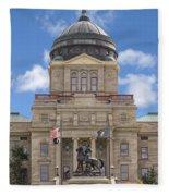 Montana Capitol Building Fleece Blanket
