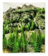 Montana Mountains In Autumn  Fleece Blanket