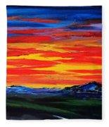 Montana Sunset Colors                     72 Fleece Blanket