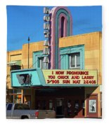 Miles City Montana - Theater Fleece Blanket