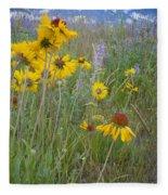 Montana Wildflowers Fleece Blanket