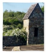 Montauk Guard House 2 Fleece Blanket