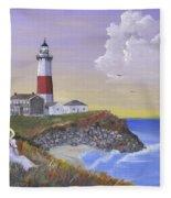 Montauk Lighthouse Fleece Blanket