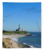 Montauk Lighthouse Fleece Blanket
