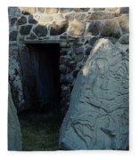 Monte Alban Danzantes Stone Fleece Blanket