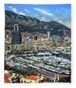 Monte Carlo Harbor View Fleece Blanket