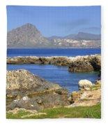 Monte Cofano - Sicily Fleece Blanket