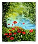 Monte Rio Poppies Fleece Blanket