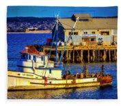 Monterey Bay Fishing Boat Fleece Blanket