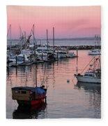 Monterey Bay Harbor Fleece Blanket