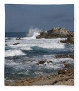 Monterey Coastline Fleece Blanket