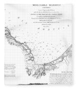 Monterey Harbor California 1852 Fleece Blanket