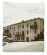 Monterey Hospital Was Built In 1930 At 576 Hartnell St, Monterey Fleece Blanket