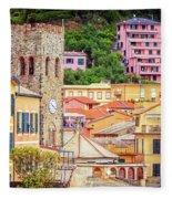 Monterosso Al Mare Cinque Terre Italy Fleece Blanket