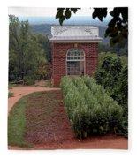 Monticello Vegetable Garden Pavilion Fleece Blanket