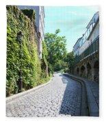 Montmarte Paris Cobblestone Streets Fleece Blanket
