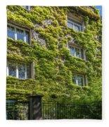Montmarte Paris Ivy Covered Building Fleece Blanket