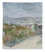 Montmartre  Behind The Moulin De La Galette Paris, July 1887 Vincent Van Gogh 1853  1890 Fleece Blanket