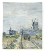Montmartre   Mills And Vegetable Gardens Fleece Blanket