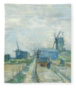 Montmartre   Mills And Vegetable Gardens, Paris Fleece Blanket
