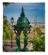 Montmartre Wallace Fountain Fleece Blanket