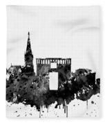 Montpellier Skyline-black Fleece Blanket