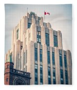 Montreal - Aldred Building Fleece Blanket