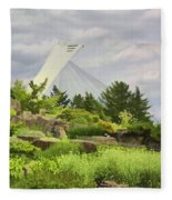 Montreal Biodome Backdrop Fleece Blanket