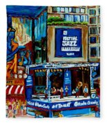 Montreal City Paintings By Streetscene Specialist Carole Spandau  Over 500 Prints Available Fleece Blanket