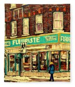Montreal Cityscenes By Streetscene Artist Carole Spandau Fleece Blanket