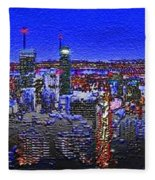Montreal Etched Fleece Blanket