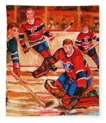 Montreal Forum Hockey Game Fleece Blanket
