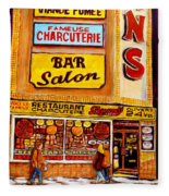 Montreal Landmarks And Legengs By Popular Cityscene Artist Carole Spandau With Over 500 Art Prints Fleece Blanket