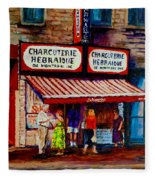 Montreal Paintings  Available For Fundraisers By Streetscene  Artist Carole Spandau  Fleece Blanket