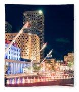Montreal - Place Des Arts Fleece Blanket