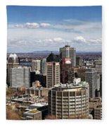 Montreal Seen From Above Fleece Blanket