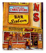 Montreal Smoked Meat Dunns Restaurant Fleece Blanket