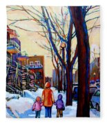 Montreal Winter Fleece Blanket