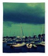 Montrose Harbor Evening Fleece Blanket