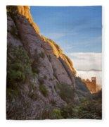 Montserrat Hike Painterly Fleece Blanket
