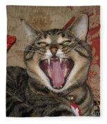 Monty's Yawn Fleece Blanket