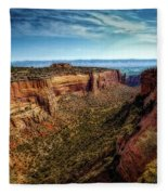 Monument Canyon And Saddlehorn Fleece Blanket