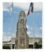 Monument Central Square Quezaltenango Guatemala Fleece Blanket