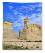 Monument Rocks In Kansas 2 Fleece Blanket